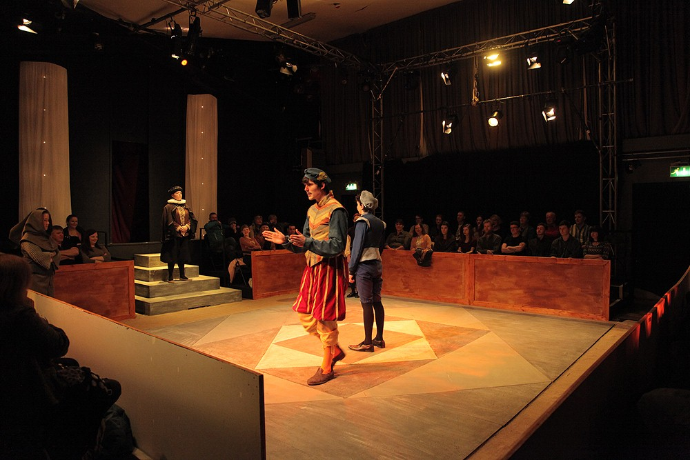 2nd Year production of Measure for Measure by William Shakespeare, with Lighting and Set Design by ICFE Stagecraft students