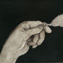 Anita-Forde-Eg-10-Trusting-Hand-Black-Ink-and-Uni-Pin-Fine-Line-Pen_