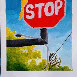 Anita-Forde-Eg-3-Bird-on-Sign-Acrylic-Paint-_2