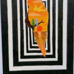 Anita-Forde--Eg-6The-Illusion-of-Freedom-Black-Marker-and-Acrylic-paint_