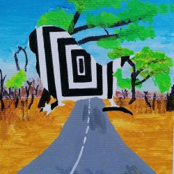 Anita-Forde-Eg-7-The-Illusion-of-Freedom-Black-marker-and-Acrylic-paint. _3