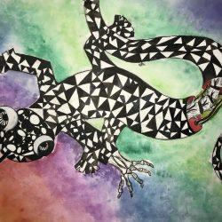 Catalina-Vesca-3.-Amusing-Lizard.-Watercolor