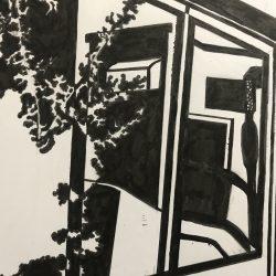 Catalina-Vesca-4._Reflection_On_Window._Watercolor