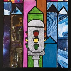 Charles-Imperial-10._The_End_Of_The_Big_City,_Collage_Art_With_Markers_