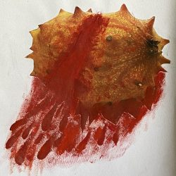 Charles-Imperial-5._Bleeding_Fruit,_Collage_With_Red_Gouche_Paint_
