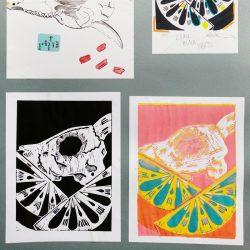 Cody Rumniak Portfolio work sheet Linoprint