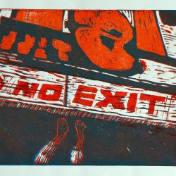 Erin Griffiths No Exit Linoprint