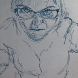 Helen-Ryan-1-Drawing-From-Mirror---Charcoal-Pencil