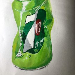 Helen-Ryan-15-Object-Study,-Crushed-Can---Gouache