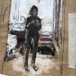 Helen-Ryan-5-Self-Portrait-In-Mirror-With-Window-Behind---Mixed-Media