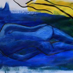 Izabella-Dulkowska-12._Woman._Acrylic_On_Cardboard_