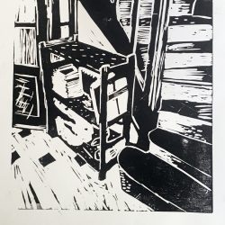 Jessica Dunne Staircase Linoprint