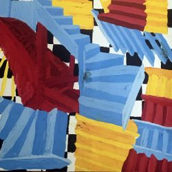 Jessica Dunne Staircases Gouache