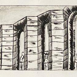 Marzena Dobias Arches Drypoint print
