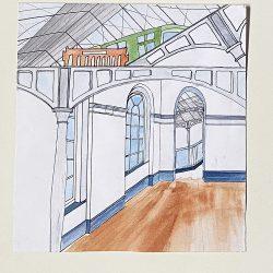 Marzena Dobias Heuston Interior Pen and Watercolour
