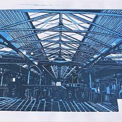 Marzena Dobias Heuston Station Lino Print 2