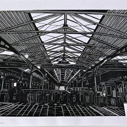 Marzena Dobias Heuston Station Linoprint