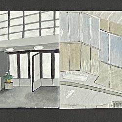 Marzena Dobias Indoor Spaces Watercolour
