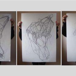 Mica-Moroney-1.-Hair-Drawings.-Pen-And-Pencil