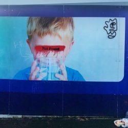 Nicole Holbrook Absence- acrylic on billboard