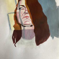 Sabrina-Dunne-12.-Self-Portrait-Light-Study---Gouache--