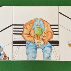 Stephen-Curtis-7_Homeless_Men._Watercolor_And_Marker