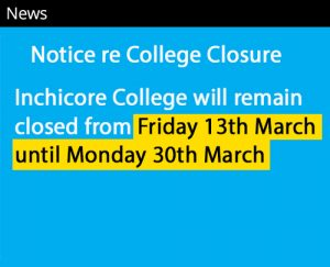 college closure news notice no link