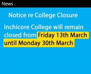 college closure news notice no link